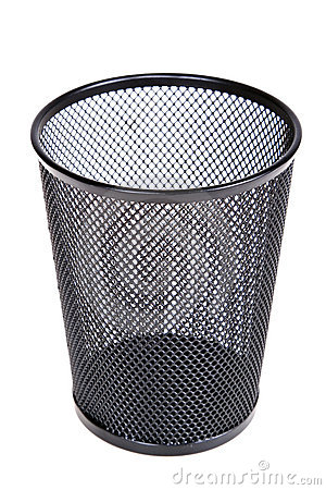 Free Empty Mesh Recycle Bin Royalty Free Stock Photos - 4816198