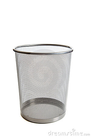 Free Empty Mesh Wastebasket Royalty Free Stock Images - 10779519