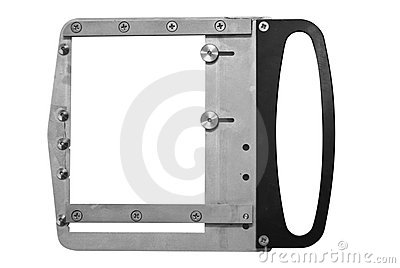 Empty metal photo frame