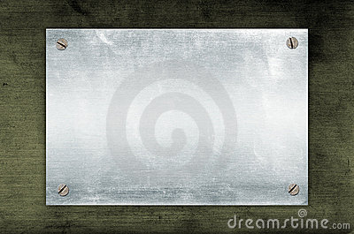 Empty Metal Plate