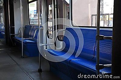 Empty Metro Train
