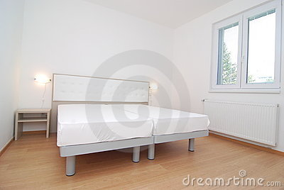 Empty modern bedroom