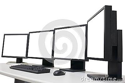 Empty monitors