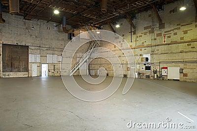 Empty movie studio