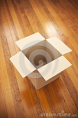 Empty Moving Box Background