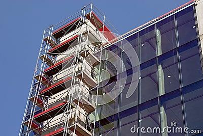 Empty new modern glass house w