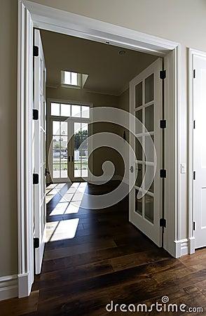 Empty new modern home doorway