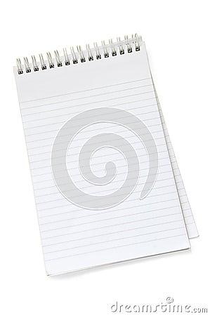 Empty notepad