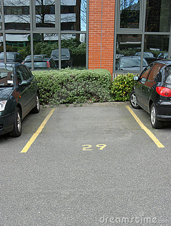 Empty Office Car Parking Space
