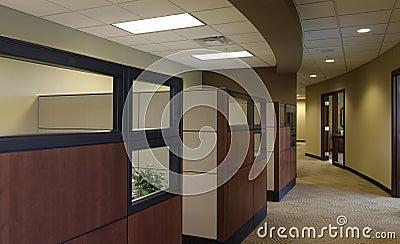 Empty Office Cubical workspaces