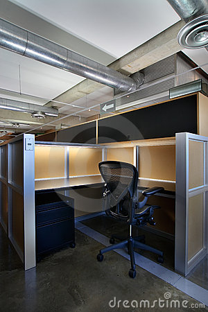 Empty office cubicle