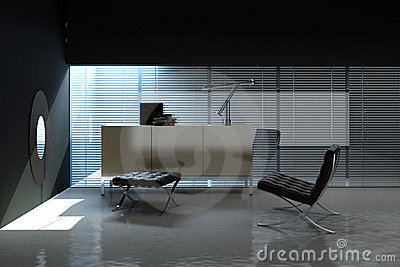 Empty office interior