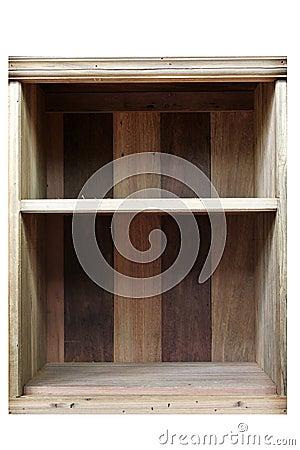 Empty old Wood Shelf