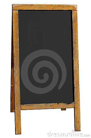 Free Empty Old Wooden Pub Menu Board Isolated On White. Stock Photography - 11530402