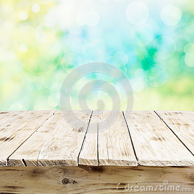 Free Empty Old Wooden Table In Fresh Sunlight Stock Photo - 36608480