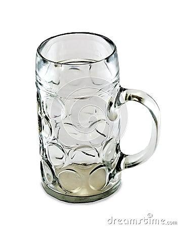 Empty one liter beer mug