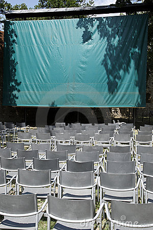 Empty open air cinema