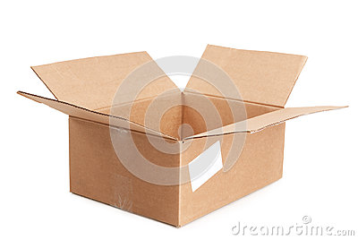 Empty open box