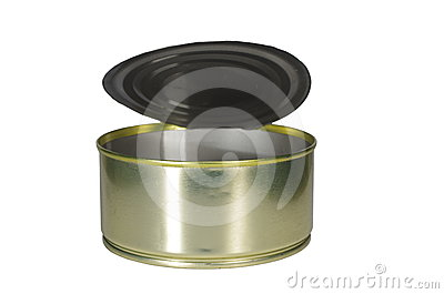 Empty open tin
