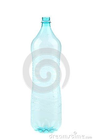 Empty opened plastic bottle.