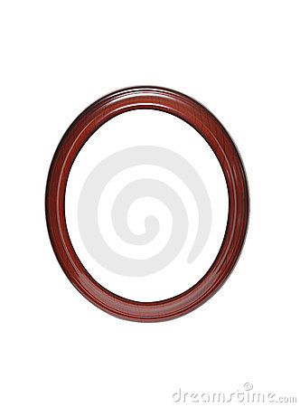 Empty Oval Frame