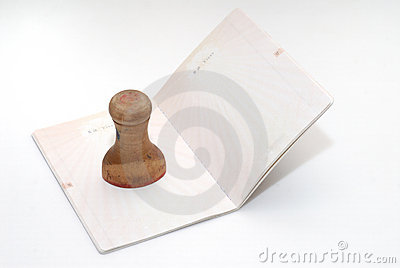 Empty page of passport