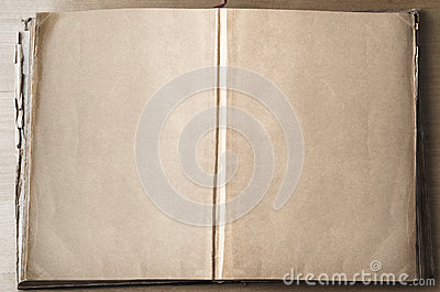 Empty Pages in Opened Book