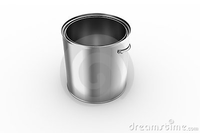 Empty paint can