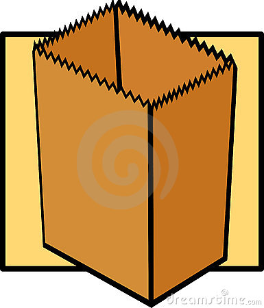 Empty paper grocery bag