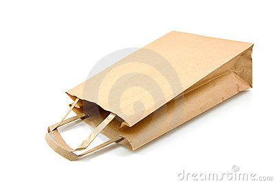 Empty paper shopping bag