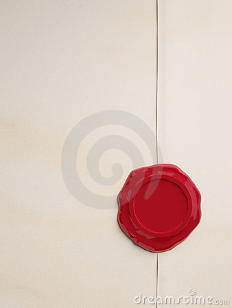 Free Empty Parchment With Red Wax Seal Royalty Free Stock Images - 7486819