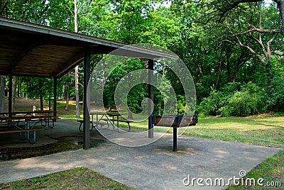 Empty Park Pavilion