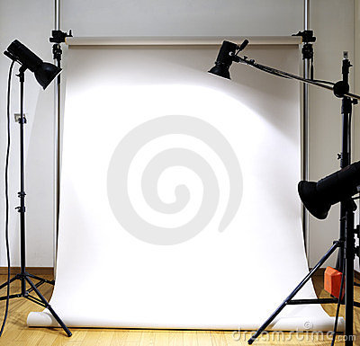 Empty photographic studio