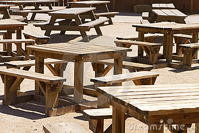 Empty Picnic Tables