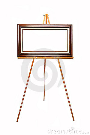 Free Empty Picture Frame On Wooden Easel Royalty Free Stock Photography - 409867