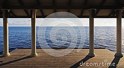 Empty pier on the sea