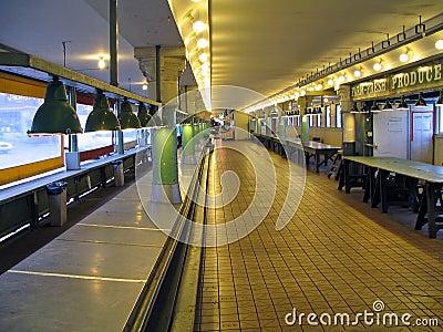 Empty Pike Place Market