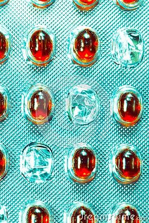 Empty pills pack
