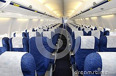 Empty plane interior