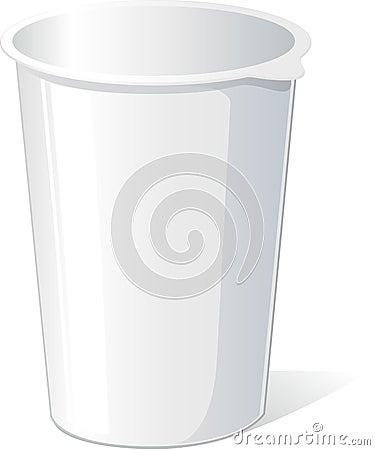 Empty Plastic Container For Yogurt Stock Vector - Image ...