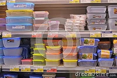 Empty plastic containers