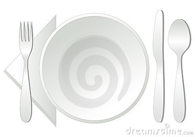 Empty plate,