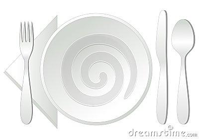 Empty plate,