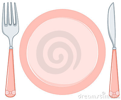 Empty Plate Cartoon Empty plate with fork and
