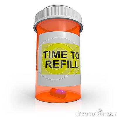 Free Empty Prescription Bottle - Time To Refill Stock Photos - 18809763