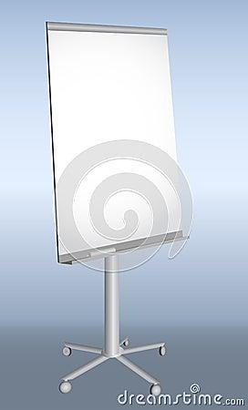 Empty presentation flip-chart