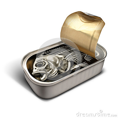 Empty promise stock illustration image 59712831 for Empty sardine cans