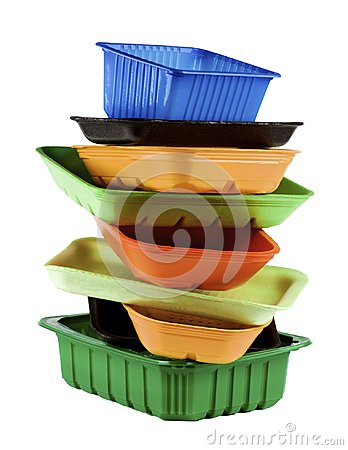 Free Empty Recycled Trays Stock Images - 106680344