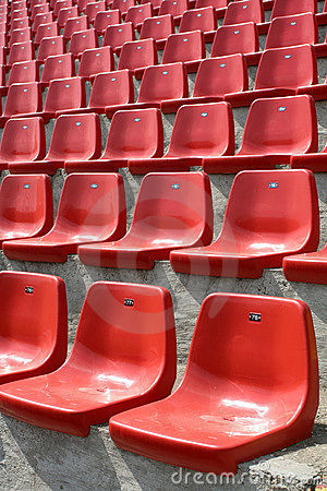 Free Empty Red Chairs Royalty Free Stock Photography - 5460837
