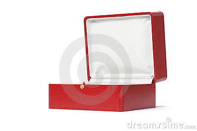 Empty red gift box